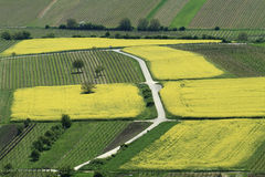 Farm Landscape from Above Royalty Free Stock Photo