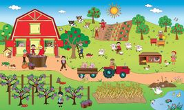 Farm landscape Royalty Free Stock Photo