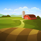 Farm Landscape Royalty Free Stock Photo