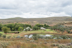 Farm landscape between Cango Caves and Calitzdorp Stock Photos