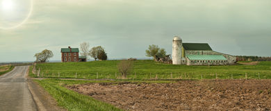 Farm landscape Royalty Free Stock Images