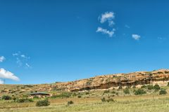 Farm landscape between Fouriesburg and Clarens Stock Image