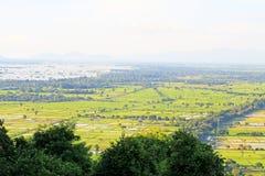 Farm Landscape, Mandalay, Myanmar Royalty Free Stock Image