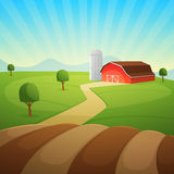 Farm Landscape Royalty Free Stock Photography