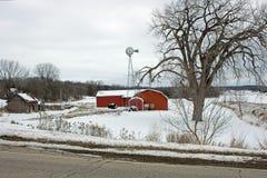 A Farm Landscape in Winter Royalty Free Stock Photo