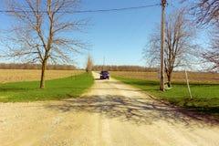 A farm lane in the spring Royalty Free Stock Photos