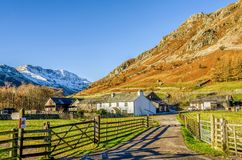 Farm at Langdale in the Lake District Stock Photo