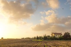 Little Tuscany. Farm in Lazio, west of Rome Stock Photo
