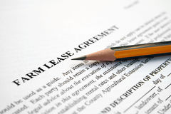 Farm lease agreement Royalty Free Stock Photo