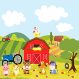 Farm Life. A farm is an area of land or water (for aquaculture) that is devoted primarily agricultural processes, (E.g., the practice of producing and managing Royalty Free Stock Image