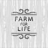 Farm For Life VECTOR illustration, Floral Doodle Frame, Black Outline Vignette. Farm For Life VECTOR illustration, Floral Doodle Frame, Black Outline Vignette Stock Image