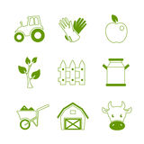 Farm linear icons set Stock Images