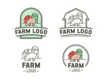 Farm logo set Stock Image