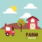 Farm lorem ipsum flat. Icon vector illustration design graphic Royalty Free Stock Images