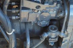 Tractor motor engine mechanic parts farm equipment vehicle royalty free stock image