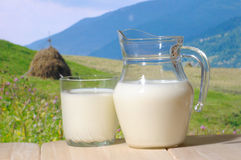 Farm milk Stock Photography