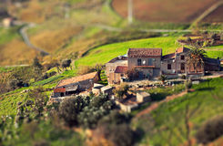 Farm in miniature. Stock Images
