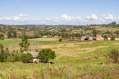 Farm and mountain Royalty Free Stock Images
