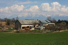 Farm in mountains Royalty Free Stock Photos