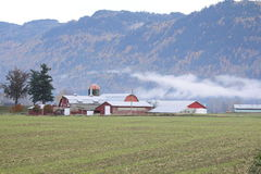Farm in the Mountains Stock Photo