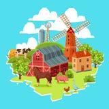 Farm multicolored concept Royalty Free Stock Photos
