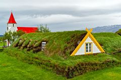 Traditional turf houses in Glaumbaer - Iceland Royalty Free Stock Image