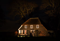 Farm at night Royalty Free Stock Photo