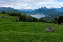 Farm in Norway Royalty Free Stock Images