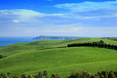 Farm&Ocean. The view of Farm&Ocean from top hill, The Phillip Island, Melbourne stock image
