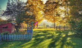 A farm in Ohio. An early morning on an Ohio farm stock photography