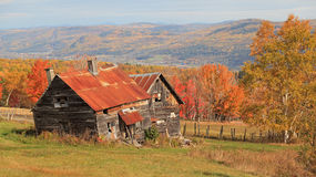 Farm. An old desolate farm in Canada Stock Photos