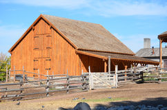 Farm. Old farm house and barn royalty free stock photos