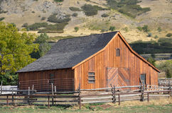 Farm. Old farm house and barn royalty free stock images