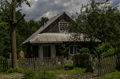 Farm. Old rural homestead surrounded by trees Royalty Free Stock Photography