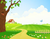 Farm pathway Royalty Free Stock Photography