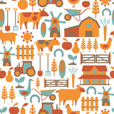 Farm pattern. Seamless pattern with farm related items Stock Photo