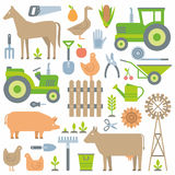 Farm pattern Stock Photography