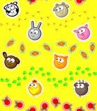 Farm pets wallpaper seamless royalty free illustration