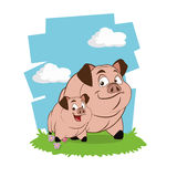 Farm pigs cartoons, vector illustration. Farm concept with animals icon design, vector illustration 10 eps graphic Stock Photography
