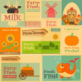 Farm Posters Royalty Free Stock Images