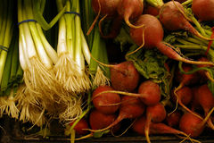 Farm Products. Vegetables on display at a Warrenton Virginia market stock image