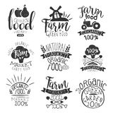 Farm Products Market Vintage Stamp Collection Royalty Free Stock Photos