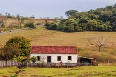 Small house in the countryside stock photo