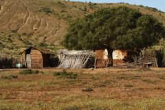 Farm property in northern Chile stock photos