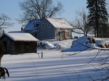 Farm in Quebec. Canada, north America. Royalty Free Stock Image