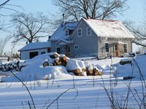 Farm in Quebec. Canada, north America. Royalty Free Stock Images