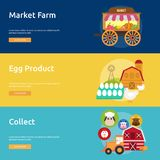 Farm and Ranch Banner Design. Set of great banner flat design illustration concepts for Farm, Ranch, harvest, agriculture and much more Royalty Free Stock Photos