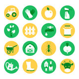 Farm and ranch. Gardening icons set Royalty Free Stock Image