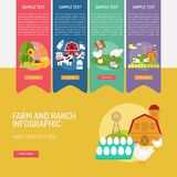 Farm and Ranch Infographic Complex. Infographic Farm and Ranch | Use for farm, ranch, agriculture, harvest, industry and much more. The set can be used for Stock Photo
