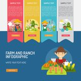 Farm and Ranch Infographic Complex. Infographic Farm and Ranch | Use for farm, ranch, agriculture, harvest, industry and much more. The set can be used for Royalty Free Stock Image